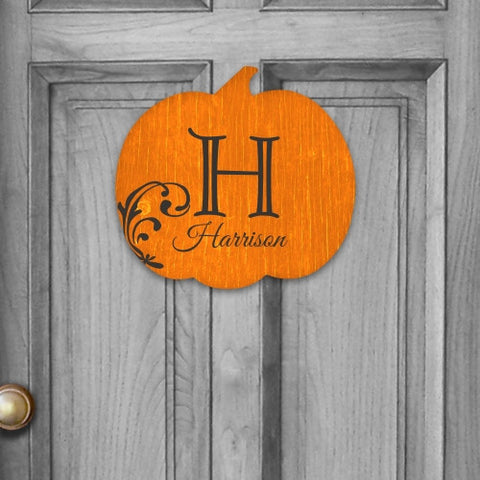 Personalized Family Pumpkin Wall Sign