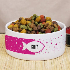 Personalized Fish Pet Bowl