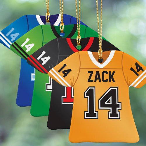 Personalized Football Jersey Christmas Ornament