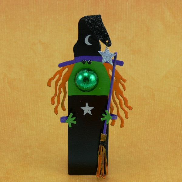 Personalized Halloween Witch Figurine