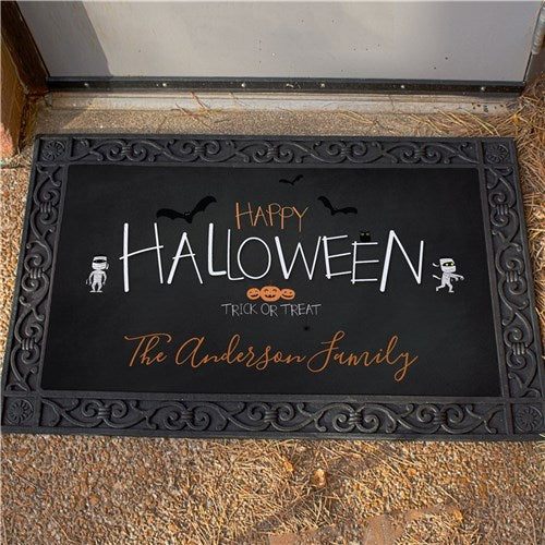 Personalized Happy Halloween Trick or Treat Doormat
