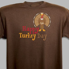 Personalized Happy Turkey Day T-Shirt