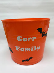Personalized Have A Batty Halloween Candy Bucket