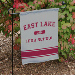 Personalized High School Pride Garden Flag