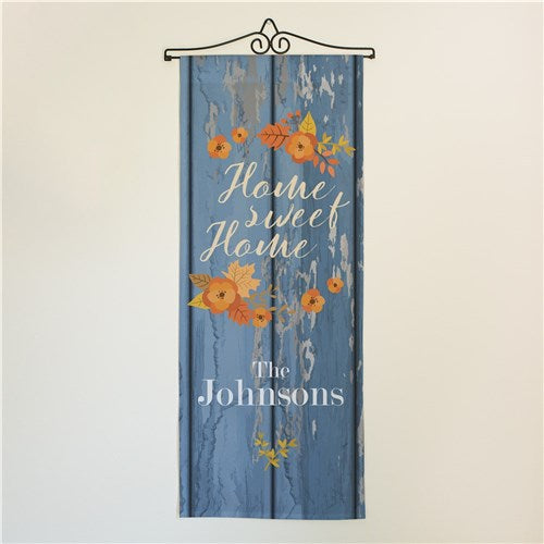 Personalized Home Sweet Home With Leaves Wall Hanging