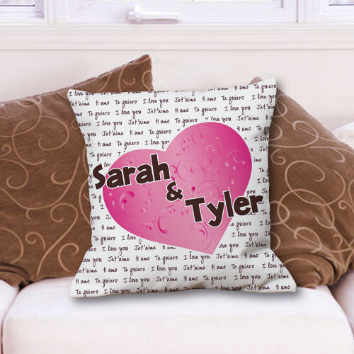 Personalized I Love You Throw Pillow