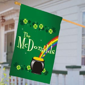 Personalized Irish Rainbow House Flag