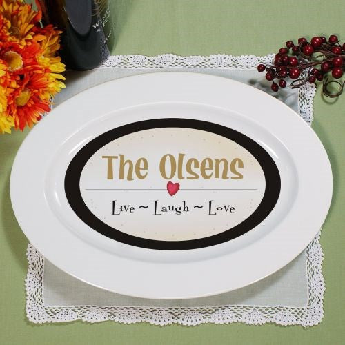 Personalized Live, Laugh, Love Serving Platter