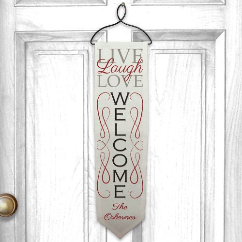Personalized Live, Laugh, Love Welcome Banner