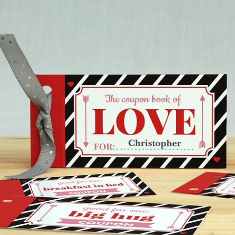 Personalized Love Coupon Book