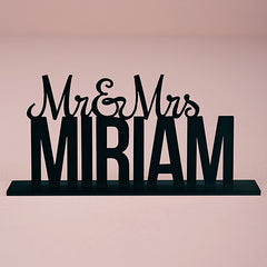 Personalized Mr. And Mrs. White Acrylic Cake Topper