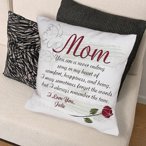 Personalized My Mother Throw Pillow