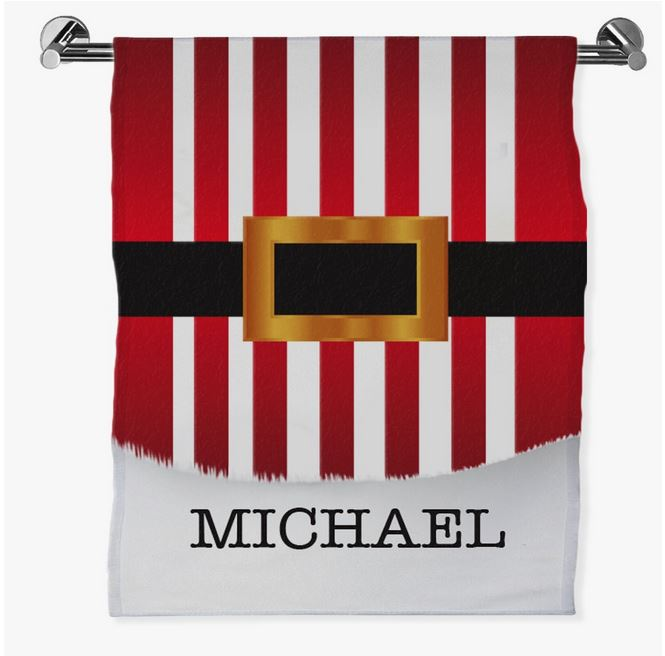 Personalized Santa's Belt Bath Sheet