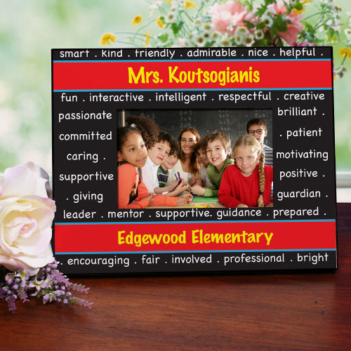 Personalized School Teacher Printed Frame
