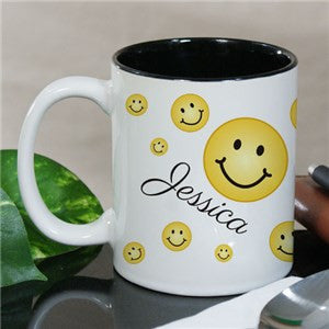 Personalized Smiley Face Mug
