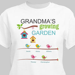 Personalized Spring Garden T-shirt for Her