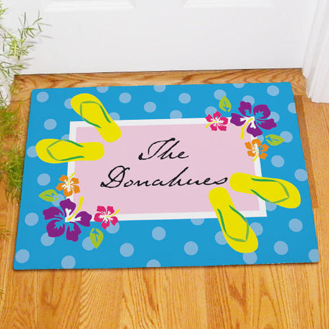 Personalized Summer Welcome Doormat