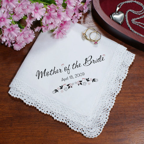 Personalized Wedding Mother Of the Bride Handkerchief