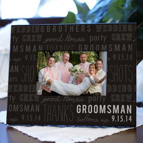 Personalized Wedding Party Printed Frame