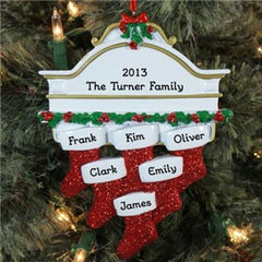 Personalized White Mantle Ornament