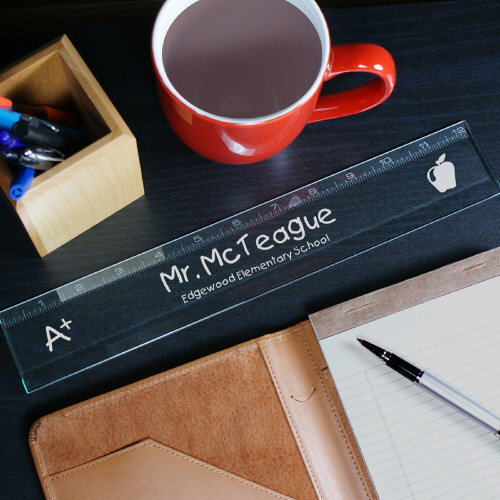 Personalized Teacher Glass Ruler