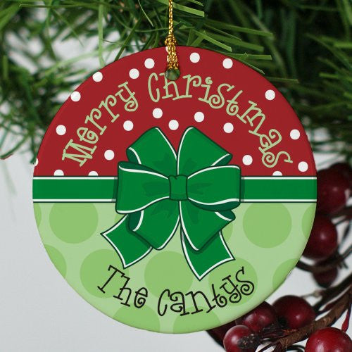 Round Merry Merry Ornament