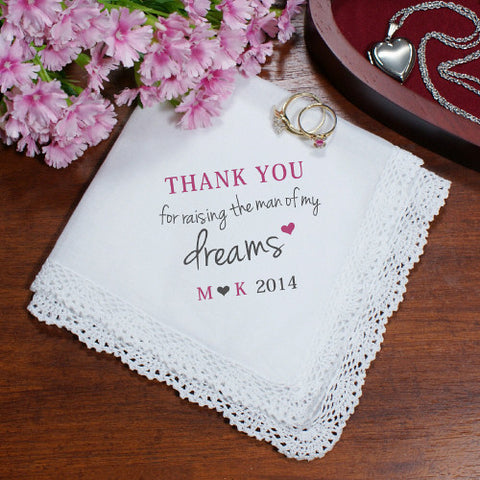 Personalized Man Of My Dreams Wedding Hankerchief