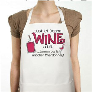 Wines A Bit Personalized Apron