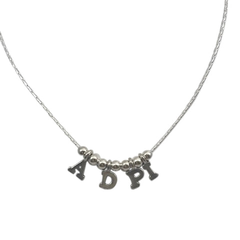 Alpha Delta Pi Necklace with Tiny Slide Letters