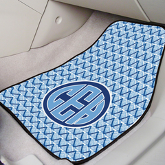 Personalized Blue Monogram Car Mat