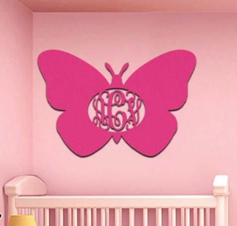Wooden Monogram Butterfly