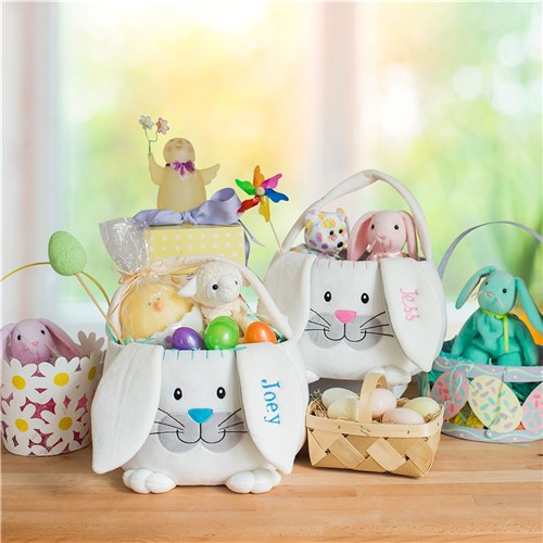 Embroidered Plush Easter Basket