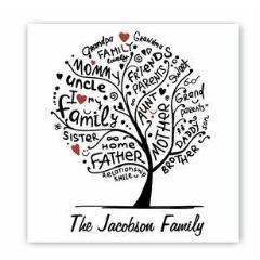 Family Roots Canvas Sign