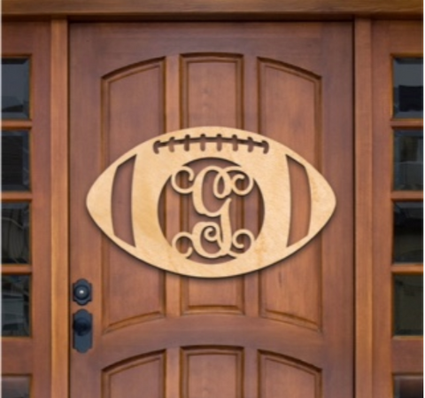 Football Monogram Door Decoration