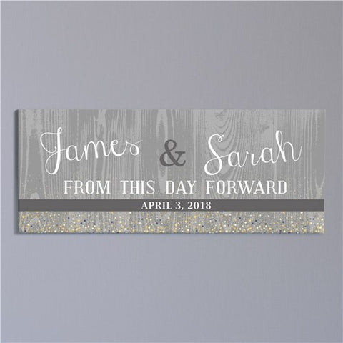 Personalized From This Day Forward Wall Canvas
