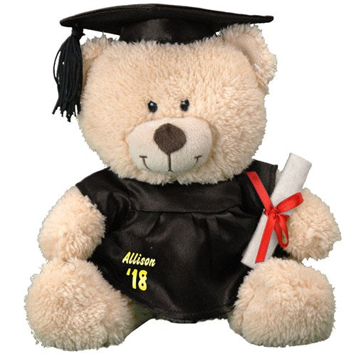 Personalized Graduation Cap and Gown Teddy Bear