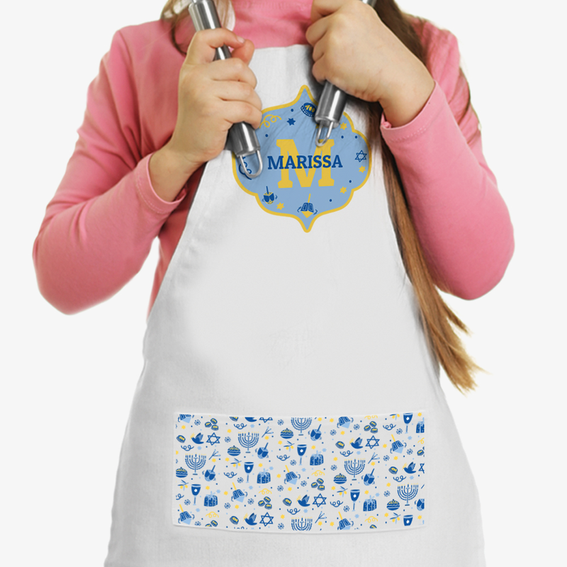 Hanukkah Personalized Kids Apron