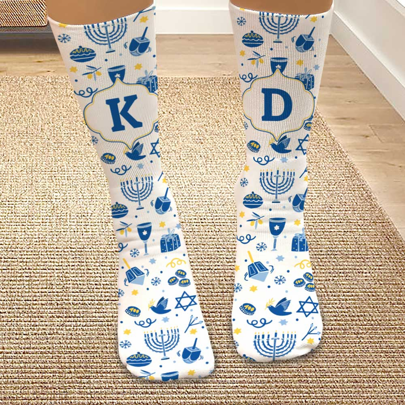 Hanukkah Personalized Tube Socks