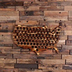 Personalized USA Beer Cap Map