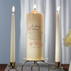 Autumn Leaf Memorial Pillar Candles