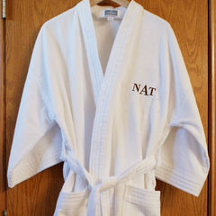Terry Cloth Robe with Custom Initials