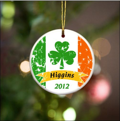 Personalized Irish Ornaments