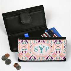 Monogram Large Leatherette Wallet