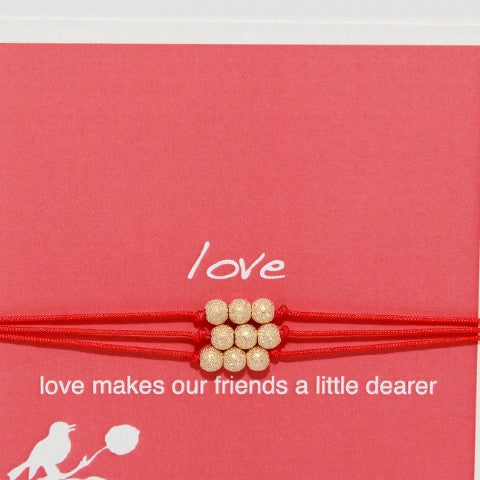 Silk Cord Love Friends Bracelet
