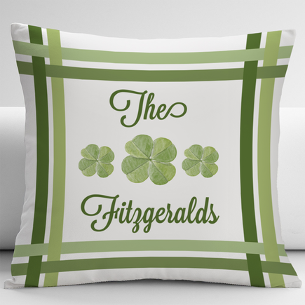 Four Leaf Clover Custom Decorative Cushion Cover