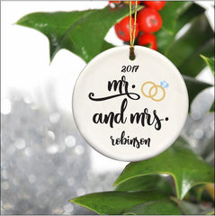 Personalized Couples Ceramic Ornaments