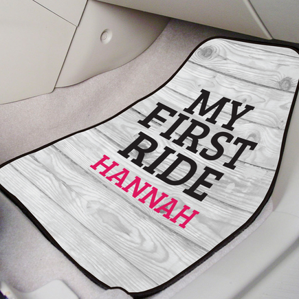 Personalized My First Ride Car Mat