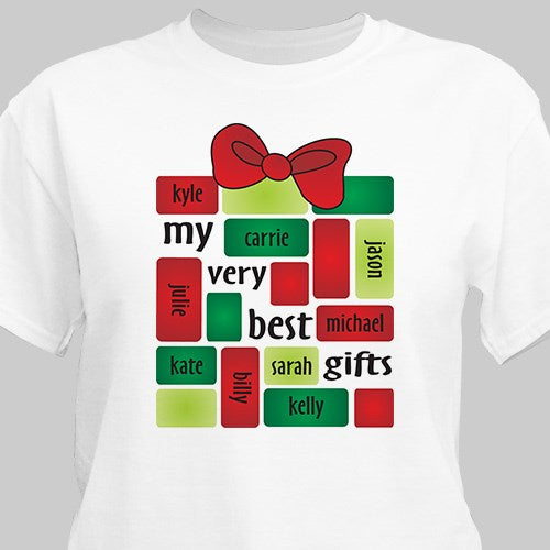Personalized My Very Best Gifts Christmas T-Shirt
