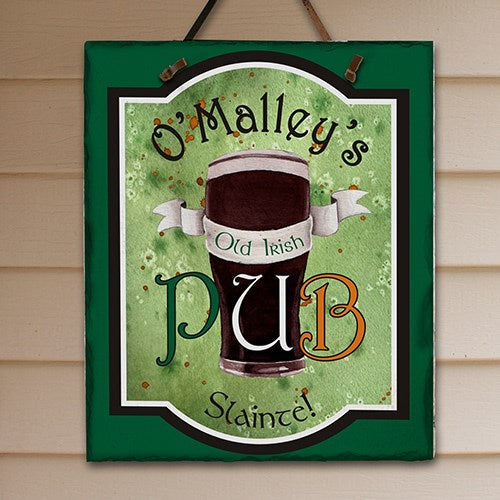Personalized Old Irish Pub Slate Plaque