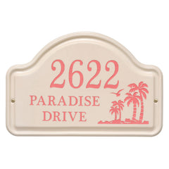 Personalized Palm Ceramic Arch Plaque